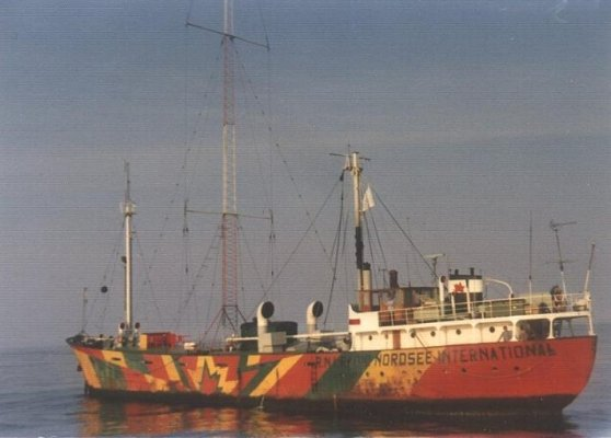 A marine pirate radio vessel called Mebo II