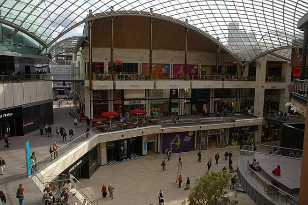 image of Bristol&#039;s Cabot Circus shopping centre
