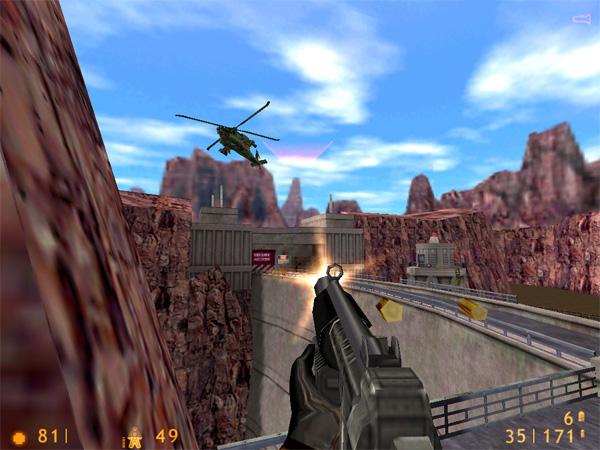 A screenshot from Half Life.