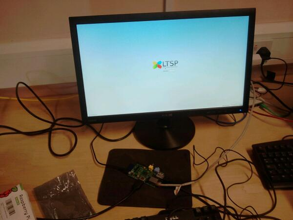Raspberry Pi in use as LTSP thin client