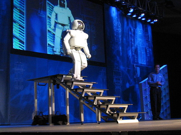 Asimo walking downstairs