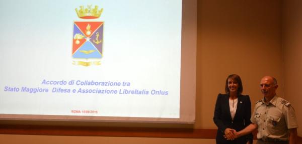 Sonia Montegiove and Rear Admiral Ruggiero Di Biase