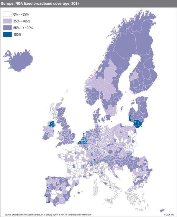 EU NGA broadband coverage