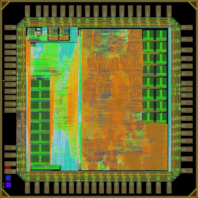 Micrograph of Pulp v3 microcontroller
