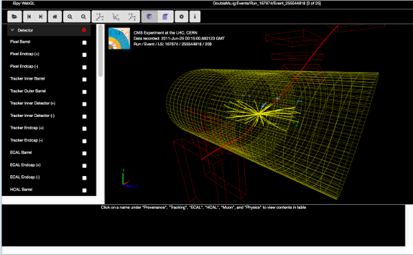 Visualisation of CDP experiment at CERN's LHC