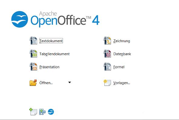 OpenOffice 4.0 menu