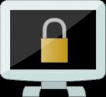 Monitor and padlock