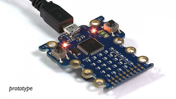 a prototype of the Micro Bit