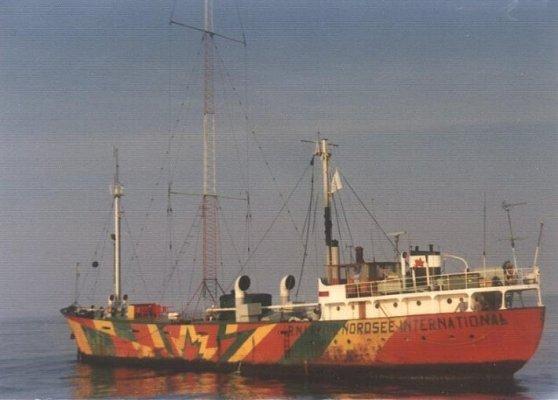 A marine pirate radio vessel called Mebo II