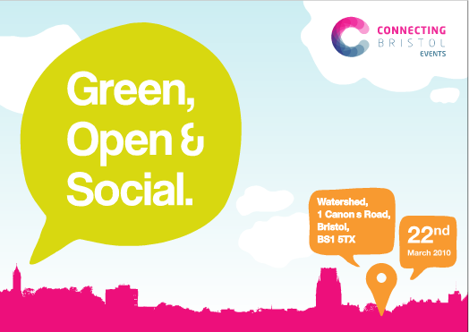 Green Open & Social event logo