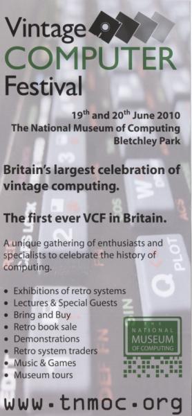 Vintage Computer Fair flyer