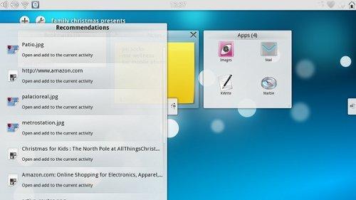 KDE Plasma Active UI