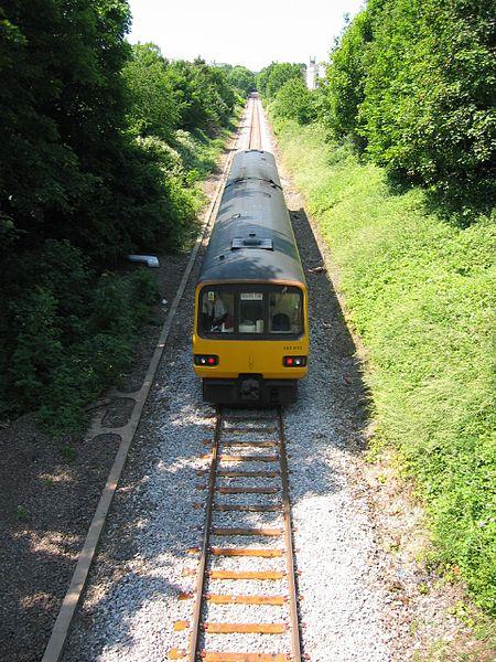 image of Severn Beach line train near Redland