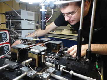 image of photon microchip being tested