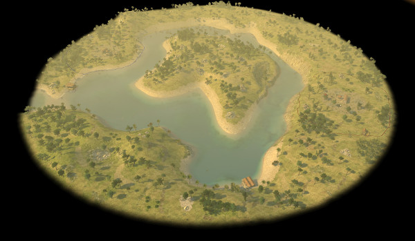 image of golden island - one of the new maps available in the latest release
