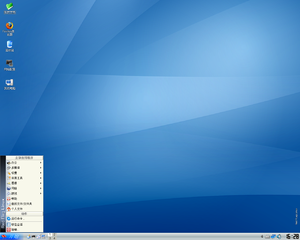 screenshot of Red Flag Linux