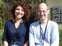 photo of Marcella Oliviero and Andrea Zhok from Bristol Uni Department of Italian